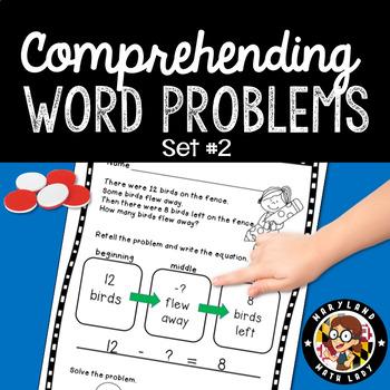 1st Grade: Comprehending Word Problems - Set 2