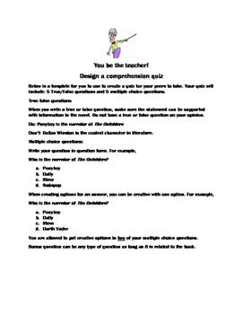 Comprehension Activity Create a Quiz