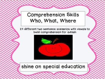 Comprehension Adapted Book/Autism