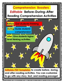 Editable Reading Comprehension Activities