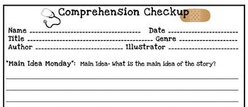 Comprehension Check-Up Reading Log
