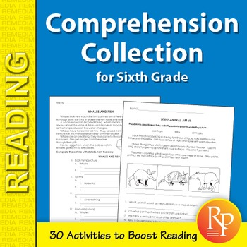 Comprehension Collection for Sixth Grade