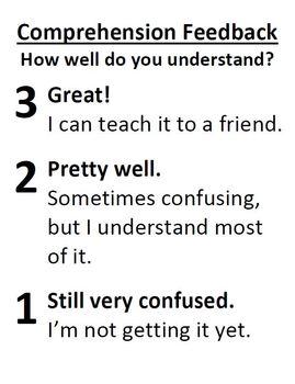 Comprehension Feedback