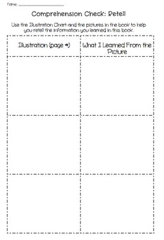 Comprehension Graphic Organizer: Retelling the Story - Ill