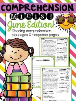 June Reading Passages {Comprehension Minis}