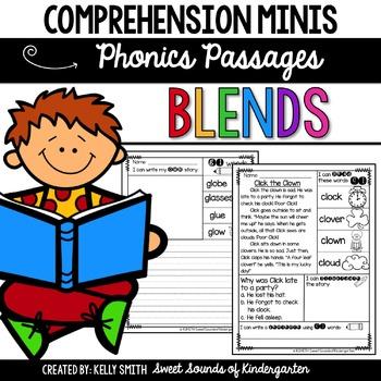 Phonics Reading Passages- Blends {Comprehension Minis}