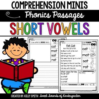 Phonics Reading Passages- Short Vowels {Comprehension Minis}