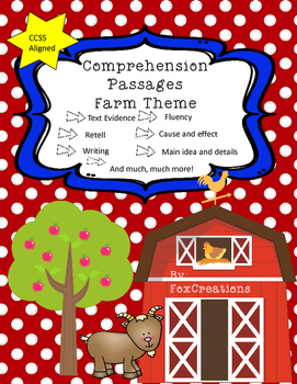 Comprehension Passages Farm Themed Print and Go