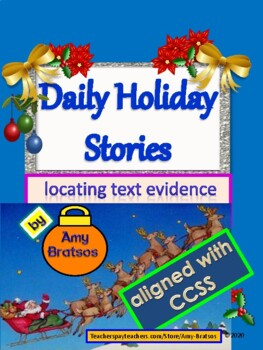 Comprehension Passages Locating Text Evidence in Christmas