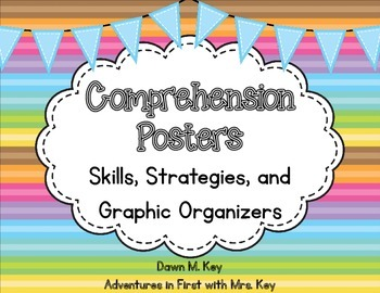Comprehension Posters ~ Skills, Strategies, and Graphic Or