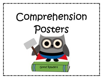 Comprehension Posters: Superhero Owls