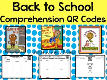Comprehension QR Code Stories--Back to School Edition