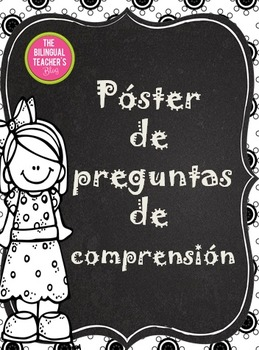 Comprehension Question Posters in Spanish