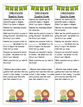 Comprehension Questioning Strands Bookmark