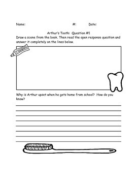 """Comprehension Questions for """"Arthur's Tooth"""" by Marc Brown"""