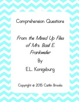 """Comprehension Questions for """" ... Files of Mrs. Basil E. F"""