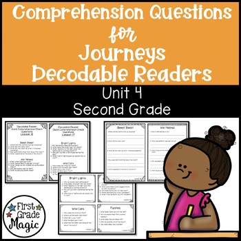 Comprehension Questions for Journeys Decodable Readers SEC
