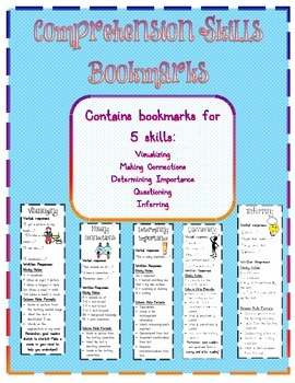 Comprehension Skills Bookmarks