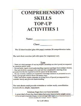 Comprehension Skills Topup Activities 1