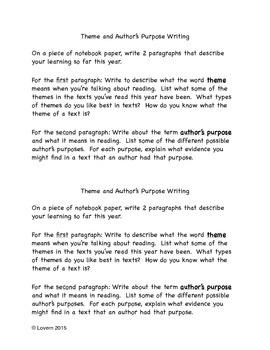 Comprehension Skills Writing Prompt