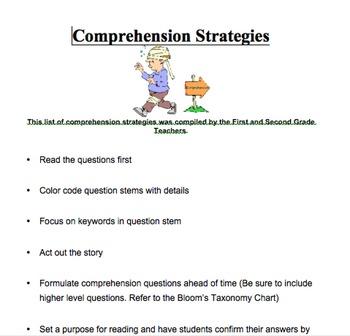 Comprehension Strategies K-5