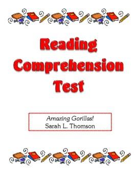Comprehension Test - Amazing Gorillas! (Thomson)