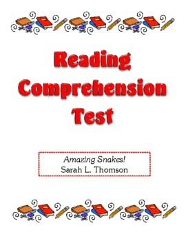 Comprehension Test - Amazing Snakes! (Thomson)