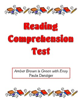 Comprehension Test - Amber Brown is Green with Envy (Danziger)