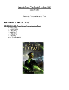 Comprehension Test - Artemis Fowl: The Last Guardian (Colfer)