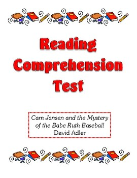 Comprehension Test - Cam Jansen & the Mystery of the Babe