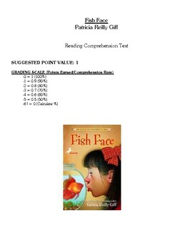 Comprehension Test - Fish Face (Giff)