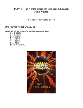 Comprehension Test - HIVE: The Higher Institute of Villain