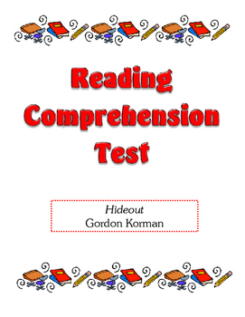 Comprehension Test - Hideout (Korman)