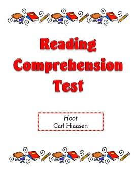 Comprehension Test - Hoot (Hiaasen)