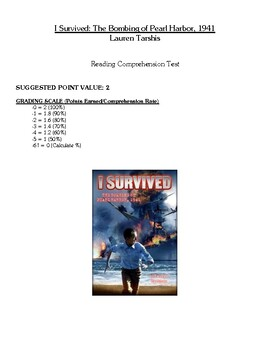 Comprehension Test - I Survived The Bombing of Pearl Harbo