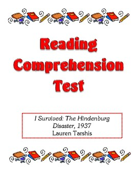 Comprehension Test - I Survived the Hindenburg Disaster, 1