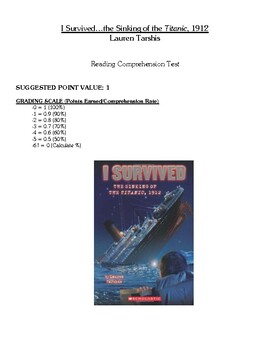 Comprehension Test - I Survived the Sinking of the Titanic
