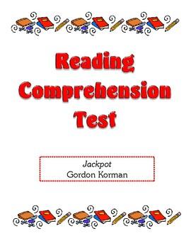 Comprehension Test - Jackpot (Korman)