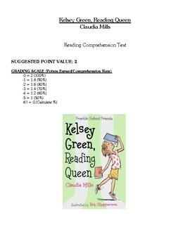 Comprehension Test - Kelsey Green, Reading Queen (Mills)