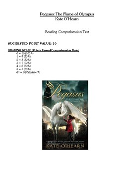 Comprehension Test - Pegasus: The Flame of Olympus (O'Hearn)