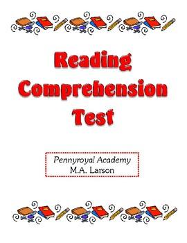 Comprehension Test - Pennyroyal Academy (Larson)