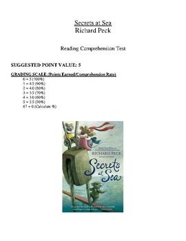 Comprehension Test - Secrets at Sea (Peck)