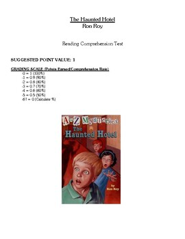 Comprehension Test - The Haunted Hotel (Roy)