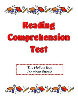 Comprehension Test - The Hollow Boy (Stroud)