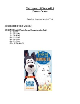 Comprehension Test - The Legend of Diamond Lil (Cronin)