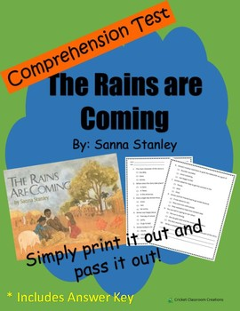 Comprehension Test: The Rains are Coming