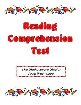 Comprehension Test - The Shakespeare Stealer (Blackwood)