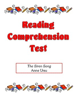 Comprehension Test - The Siren Song (Ursu)