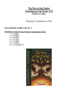 Comprehension Test - The War of the Ember, Guardians of Ga