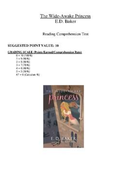 Comprehension Test - The Wide-Awake Princess (Baker)